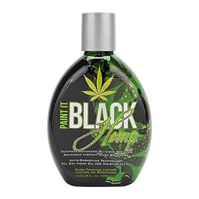 Millenium Tanning New Paint It Black Hemp Auto-Darkening Dark Tanning Lotion, 50X, 13.5 Ounce