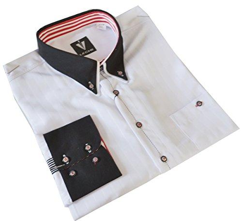 Leché Designerhemd in Weiß