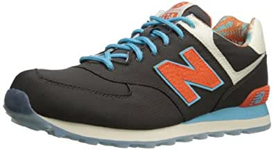 New Balance Men's ML574 Island Pack Running Shoe,Black/Red/Blue,6.5 2E US