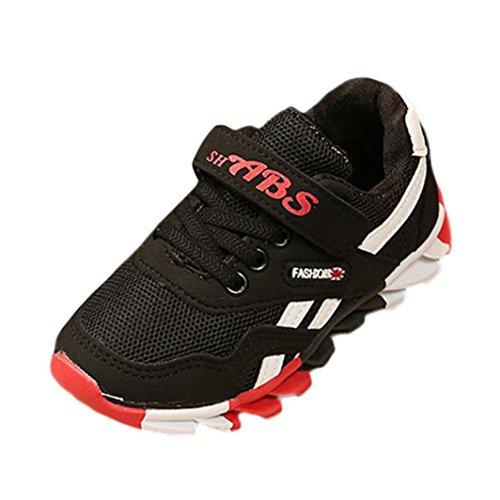 OverDose Unisex Baby Sneakers, Herbst Kleinkind Sport Running Baby Schuhe Jungen Mädchen LED Leuchtende Schuhe Sneakers Schwarz