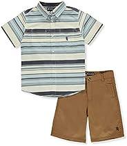 English Laundry Boys' Horizontal Stripe 2-Piece Shorts Set Ou