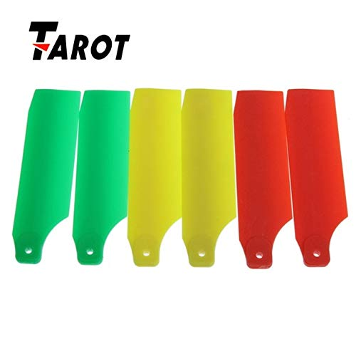 Part & Accessories Best Deal Tarot Tail Rotor Blade Propeller TL45035-06 F02174 For All Trex 450 Yellow Red Green Orange - (Color: Fluorescence Yellow) 06 Tail Rotor Blade