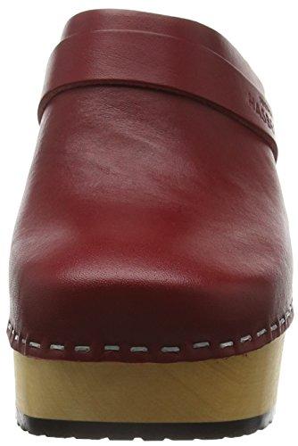 Platform Wine Women's hasbeens Sandal swedish ZPSXY4Q2k0e Red qptBfcX