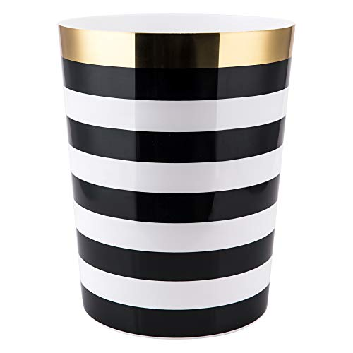 Allure Home Creations Derby Wastebasket, Black