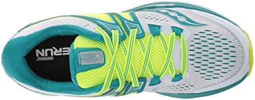 Saucony Triumph Iso 3, Zapatillas de Running para Hombre, Varios Colores (Verde Azulado / Blanco / Limón Amarillo), 39 EU