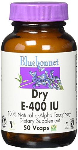 BlueBonnet Dry E-400 IU Vegetable Capsules, 50 Count