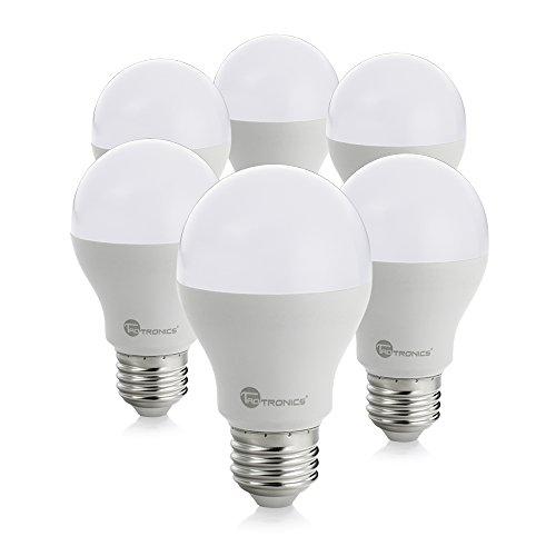 TaoTronics 9W LED Glühbirnen E27 LED-Birne Lampe, ersetzt 60W traditionelle Glühlampen, warmweiß 3000K 810lm, 240° Abstrahlwinkel, 6er Pack