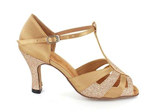 Tda Kvinners T-stropp Spenne Mote Glitter Satin Salsa Tango Ballroom Latin  Moderne Dans Bryllup ...