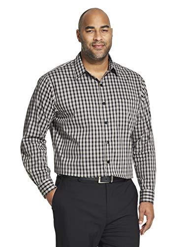 Van Heusen Men's Tall Traveler Stretch Non Iron Long Sleeve Shirt, Black, 3X-Large Big ()