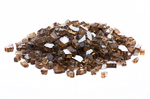 Dragon Glass DFG20-R01M Medium Copper Reflective Fire Glass