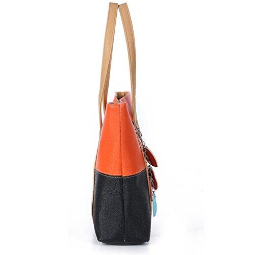 porter à femme unique ZHOUBA pour Yellow Sac Noir orange l'épaule à Rose taille red qxwIfTS