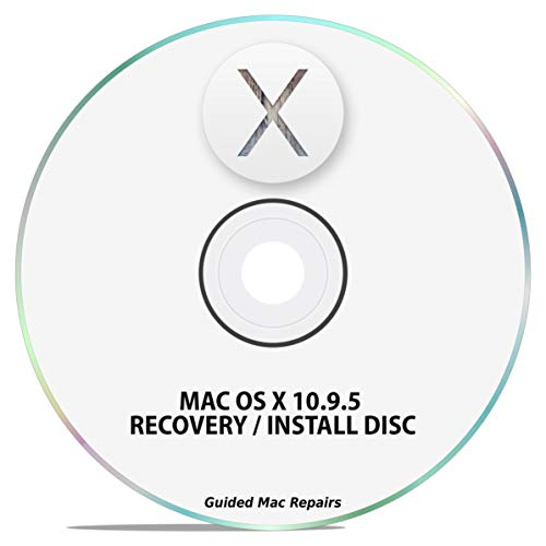 Mac OS X 10.9 Install Disc OSX System Installation Upgrade Update Recovery Installer DVD CD (Printed Guide & Tech Support)