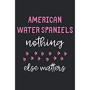 American Water Spaniels Nothing Else Matters: Lined Journal, 120 Pages, 6 x 9, Funny American Water Spaniel Notebook Gift Idea, Black Matte Finish (American Water Spaniel Journal) 41