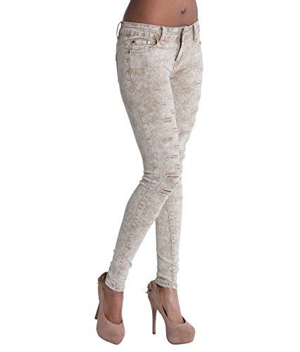 Jeans Lustychic Donna Lustychic Beige Donna Jeans Lustychic Beige Jeans EqtfnP