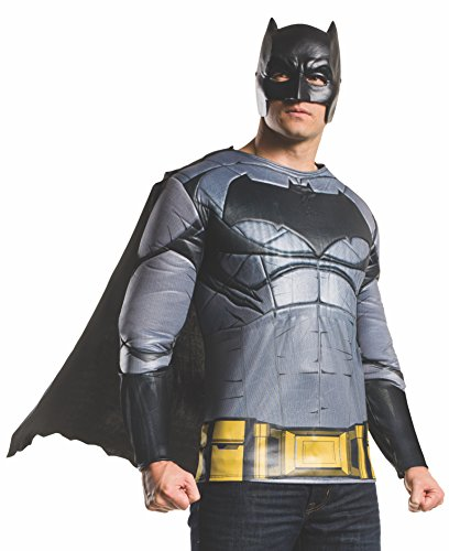 Rubie's Men's Batman v Superman: Dawn of Justice Batman Muscle Chest Top, Multi, X-Large -