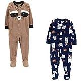 Carter's Baby Boys' Toddler 2-Pack Fleece Pajamas (3T, Raccoon/Puppy)