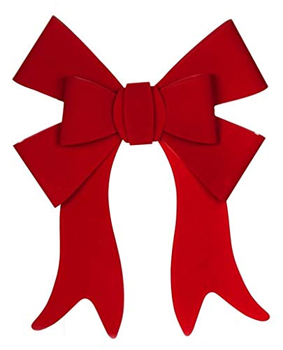 Daric Red PVC Bow with Faux Velvet Finish - 22 Length 19 Width