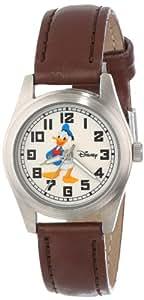 Disney Women's D152S008 Donald Duck Brown Leather Strap Watch