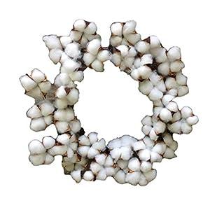 """Flora Décor Vintage Faux Cotton Wreath 14"""" 115"""