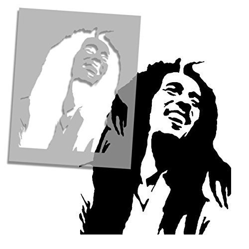 Bob Marley Face STENCIL | Iconic Portrait Home Wall Decor