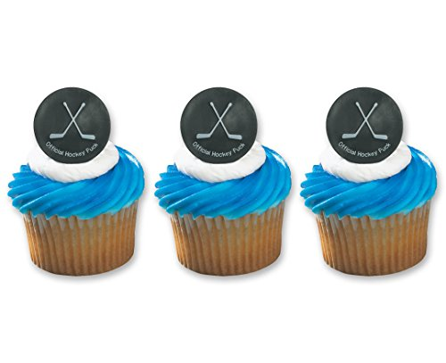 Hockey Puck Ring Cake Cupcake Topper -
