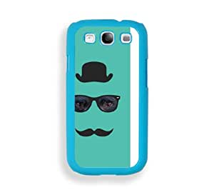 Hipster Series Black Bear Aqua Plastic Bumper Samsung Galaxy S3 SIII i9300 Case - Fits Samsung Galaxy S3 SIII i9300