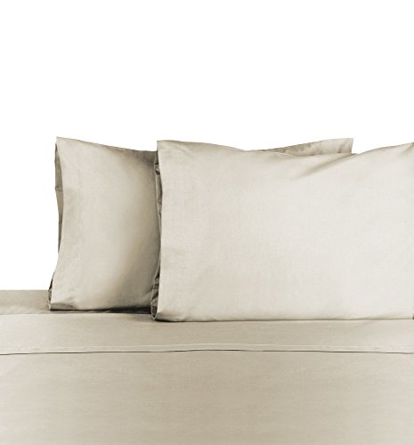 Martex T225 Bed Sheet Set - Brushed Cotton Blend, Super Soft Finish, Wrinkle Resistant, Quick Drying,  Bedroom, Guest Room  - 4-Piece Full  Set, Ivory