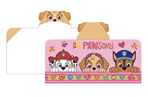 Paw Patrol Girl Hooded Bath Towel - Pawsome Pups (Pups Towel)