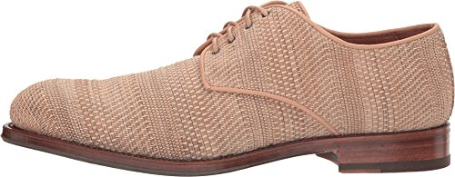 Aquatalia Mens Vance Oxford Donkerbruin Geweven Leer