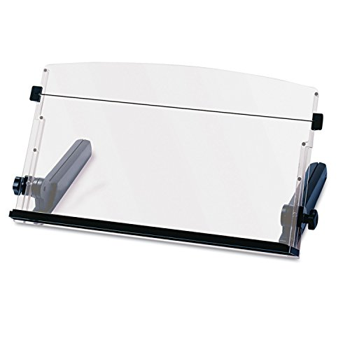 Holder Copy - 3M Adjustable Document Copy Holder, In-line with Monitor Minimizing Head and Neck Movement, 300 Sheet Capacity Holds Sheets to Books, Elastic Line Guide Keeps Pages Open, 18