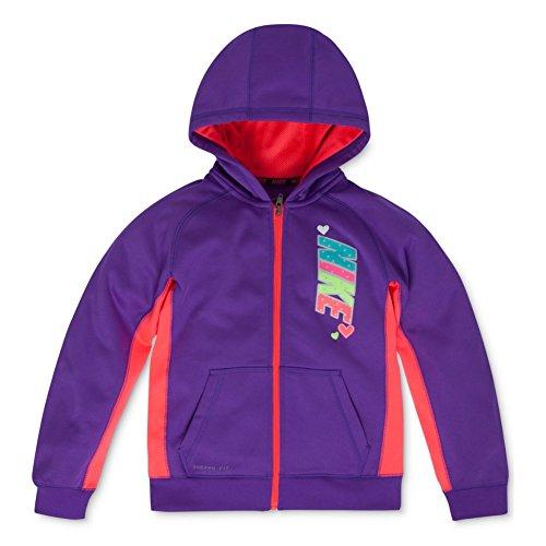 Nike Toddler & Little Girls Purple Therma-Fit Hoodie Zip Front Sweatshirt 4