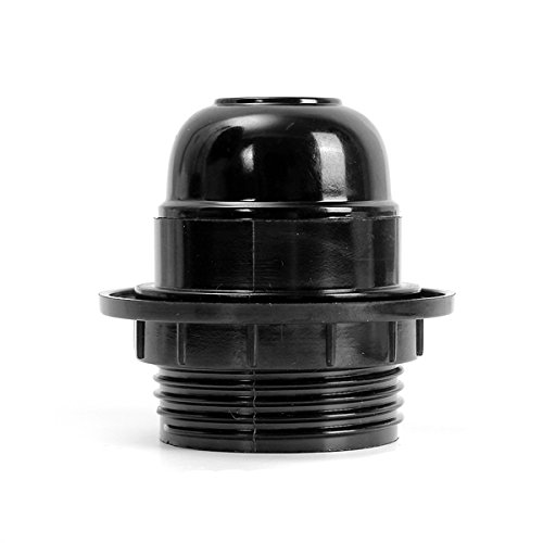 lights lighting edison screw es e27 light bulb lamp holder pendant socket black style. Black Bedroom Furniture Sets. Home Design Ideas