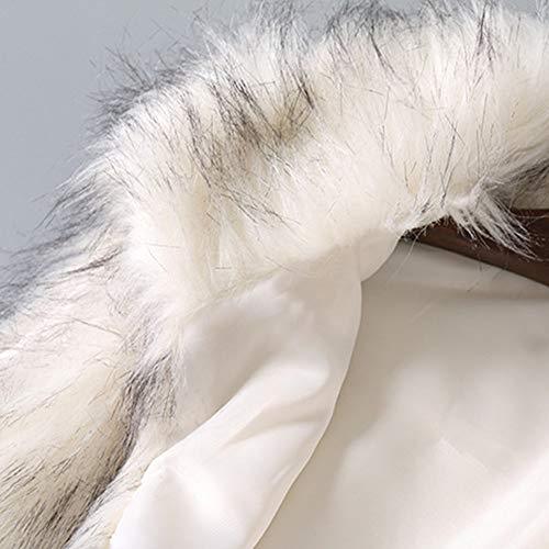 Abrigo Slim Plush de Mujeres, BBestseller Pullover Sweatshirt Chaleco de Lana de Las Mujeres Chaleco de Piel sintética Hooded Overcoat Sobretodo: Amazon.es: ...