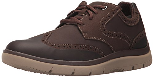 CLARKS Mens Tunsil Wing Oxford Brown