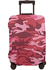 Travel Luggage Cover,Camouflage Texture In Shades Of Pink Conceptual Autumn Suitcase Protector