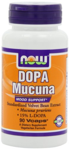 NOW Foods Dopa Mucuna Mood Support 15% L-Dopa,90 Vcaps, Health Care Stuffs
