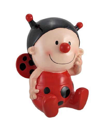 Zeckos Sweet Little Lady Bug Baby Coin Bank 10 In. (Mod Ladybug)
