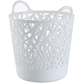 starplast tall flex laundry basket in white white baby. Black Bedroom Furniture Sets. Home Design Ideas