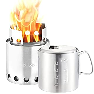 Solo Stove & Pot 900 Combo: Ultralight Wood Burning Backpacking Cook System. Lightweight Kitchen Kit for Backpacking, Camping, Survival. Burns Twigs, No Batteries or Liquid Fuel Gas Canister Required (B008W0MJJU) | Amazon price tracker / tracking, Amazon price history charts, Amazon price watches, Amazon price drop alerts