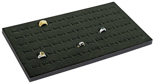 Display Foam Insert (72 Slot Black Jewelry Travel Ring Insert Display Pad with Stackable Tray)