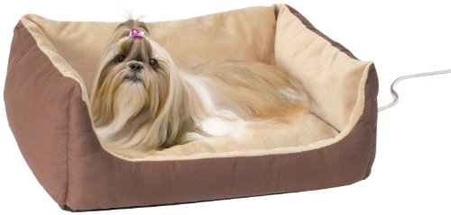 K&H Manufacturing Thermo-Pet Cuddle Cushion Mocha 14-Inch by 23-Inch 4 Watts