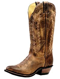 Boulet Western Boots Womens Cowboy Rider Soul Laid Back Copper 4236