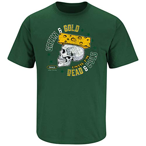 (Green Bay Football Fans. Green and Gold Until I'm Dead and Cold. Forest Green T-Shirt (Sm-5X) (Short Sleeve, Medium))