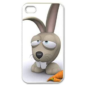 IPhone 4/4s Cases Rabbit Breakfast 3d, Case for Iphone 4s for Girls - [White] Bloomingbluerose