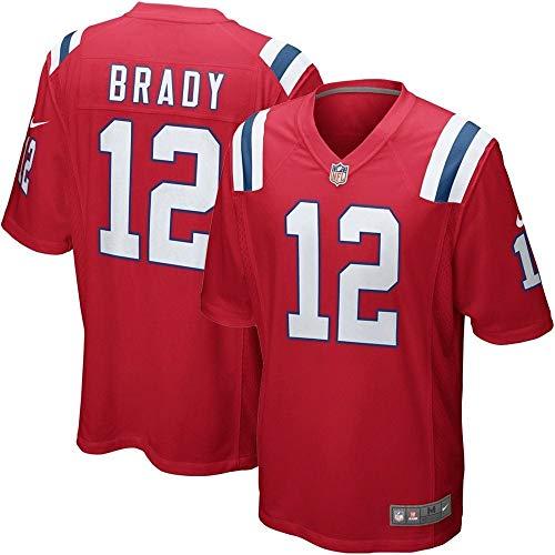 Patriots Jerseys Throwback - Nike NFL New England Patriots Tom Brady #12 Game Team Jersey University Red (XL)