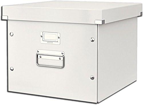 Leitz Caja de Almacenamiento para Carpetas Colgantes, A4, Gama Click and Store 60460001 - Blanco: Amazon.es: Oficina y papelería