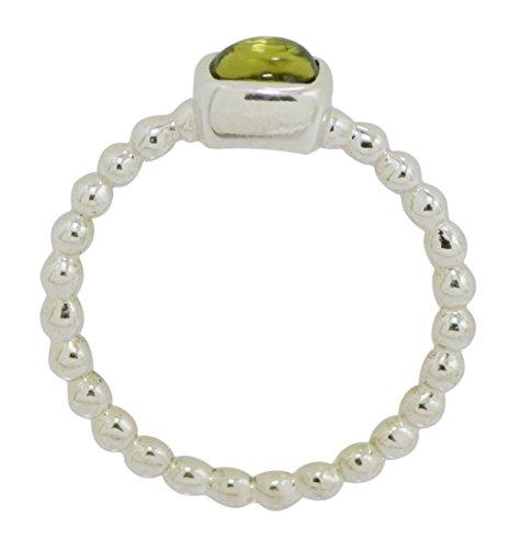 Banithani 925 argent sterling belle bijoux fantaisie indien anneau de bande de pierre péridot