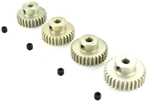 Apex RC Products 48 Pitch 28T 29T 30T 31T Aluminum Pinion Gear Set ()