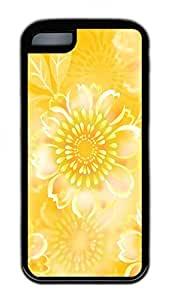 Beautiful Yellow Flowers Lovely Mobile Phone Protection Shell For iPhone 5c Cases - Unique Cool Black Soft Edge Case