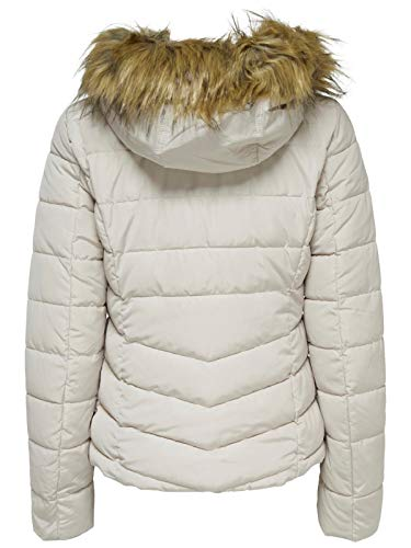 Giacca Fur Donna Only Pumice Otw Hood Quilted Jacket Ellan Stone Onlnew xqOxwT6gnS